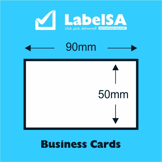 Double sided business card print 90x50mm labelsa for Online business cards printing